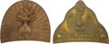 Antiques:Antiquities, Lot of Two French Napoleonic Helmet Plates.... (Total: 2 )