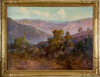 JOHN BOND FRANCISCO (American, 1863-1931) The Foothills of California, Tejon Ranch, circa 1929 Oil o