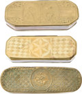 Antiques:Antiquities, Lot of Three Antique Collectible Snuff or Tobacco Boxes.... (Total: 3 )
