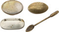 Antiques:Antiquities, Lot of Three Assorted Antique Snuffboxes and One Spoon.... (Total: 4 Items)