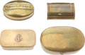 Antiques:Antiquities, Lot of Four Assorted Collectible Snuff Boxes.... (Total: 4 Items)