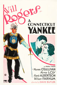 "A Connecticut Yankee (Fox, 1931). One Sheet (27"" X 41"")"