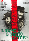 "Movie Posters:Western, The Good, the Bad and the Ugly (PEA, 1966). Italian 2 - Foglio (39"" X 55"").. ..."