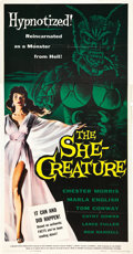 "Movie Posters:Science Fiction, The She-Creature (American International, 1956). Three Sheet (41"" X81"").. ..."