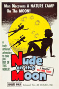 "Movie Posters:Sexploitation, Nude on the Moon (J.E.R. Pictures, 1961). Poster (40"" X 60"").. ..."