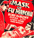 Movie Posters:Horror, The Mask of Fu Manchu (MGM, 1932). Trolley Card (20 X 22.5).. ...
