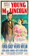 "Movie Posters:Drama, Young Mr. Lincoln (20th Century Fox, 1939). Three Sheet (41"" X 81"")Style B.. ..."