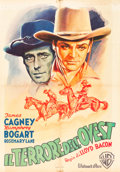"Movie Posters:Western, The Oklahoma Kid (Warner Brothers, Late 1940s) First Post War Italian Foglio (27.5"" X 39"").. ..."