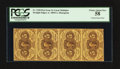 Fractional Currency:First Issue, Vertical Strip of Four Fr. 1230 5¢ First Issue PCGS Choice AboutNew 58.. ...