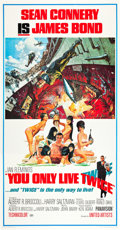 "Movie Posters:James Bond, You Only Live Twice (United Artists, 1967). Three Sheet (41"" X 81"").. ..."