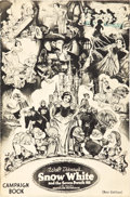 "Movie Posters:Animation, Snow White and the Seven Dwarfs (RKO, 1937). Uncut Pressbook (20Pages, 12"" X 18"") New Edition Style.. ..."