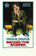 "Movie Posters:Comedy, Behind the Screen (Mutual, 1916). Window Card (14"" X 22"").. ..."