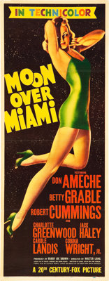 "Moon Over Miami (20th Century Fox, 1941). Insert (14"" X 36"")"