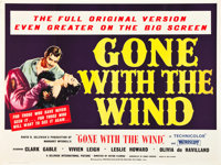 """Gone with the Wind (MGM, R-1955). British Quad (30"""" X 40"""")"""