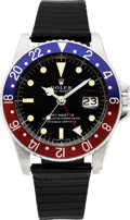 Timepieces:Wristwatch, Rolex Ref. 1675 GMT Master, Box & Papers, circa 1968. ...