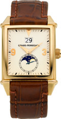 """Timepieces:Wristwatch, Girard Perregaux Ref. 2580 """"Big Date"""" Automatic With Moon Phase...."""