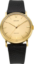 Timepieces:Wristwatch, Rolex Ref. 9659 Gold Vintage Wristwatch, circa 1955. ...