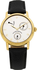 Timepieces:Wristwatch, Vacheron Constantin Gold 47200 Patrimony With Power Indicator &Date. ...