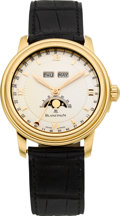 Timepieces:Wristwatch, Blancpain Limited Edition Rose Gold Automatic Triple Calendar Moon Phase, 260th Anniversary Model, No. 47/260. ...