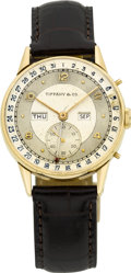 Timepieces:Wristwatch, Tiffany & Co. Vintage Gold Calendar, circa 1940's. ...