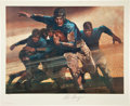 Football Collectibles:Others, 1976 Red Grange Signed Lithograph. ...