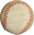 Autographs:Baseballs, 1970's Thurman Munson Single Signed Baseball....