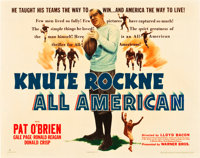 "Knute Rockne - All American (Warner Brothers, 1940). Half Sheet (22"" X 28"")"