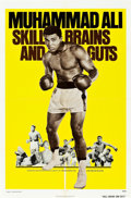 "Movie Posters:Sports, Skill, Brains and Guts ""Muhammad Ali a.k.a. Cassius Clay"" (Bryanston, R-1975). One Sheet (27"" X 41"").. ..."