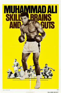 "Skill, Brains and Guts ""Muhammad Ali a.k.a. Cassius Clay"" (Bryanston, R-1975). One Sheet (27"" X 41"")..."