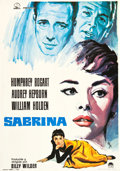 "Movie Posters:Romance, Sabrina (Paramount, R-1972). Spanish One Sheet (27.5"" X 39"").. ..."
