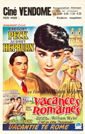 "Movie Posters:Romance, Roman Holiday (Paramount, 1953). Belgian (14"" X 22"").. ..."
