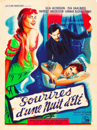 """Smiles of a Summer Night (Les Films Marceau, 1956). French Affiche (23.5"""" X 31.5"""")"""