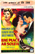 "Movie Posters:Drama, A Place in the Sun (Paramount, 1951). Belgian (14"" X 21.5"").. ..."