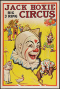 "Movie Posters:Western, Jack Hoxie Big 3 Ring Circus (Riverside Print Co, 1937). Poster (28"" X 42""). Miscellaneous.. ..."