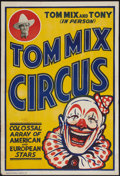 """Movie Posters:Western, Tom Mix Circus Poster (Tom Mix Circus, 1937). Poster (28"""" X 41.5"""").Western.. ..."""