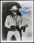 """Movie Posters:Western, The Lone Ranger Television Show (Colbert Television Sales, R-1970s). Autographed Photo (8"""" X 10""""). Western.. ..."""