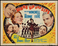 """Wake Up and Live (20th Century Fox, 1937). Half Sheet (22"""" X 28""""). Style A. Musical"""