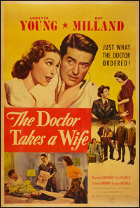 "The Doctor Takes a Wife (Columbia, 1940). Poster (40"" X 60""). Comedy"