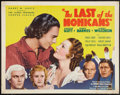 """Movie Posters:Adventure, The Last of the Mohicans (United Artists, 1936). Half Sheet (22"""" X28""""). Adventure.. ..."""