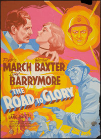 "The Road to Glory (20th Century Fox, 1936). Poster (30"" X 40"") Silk Screen Style. War"