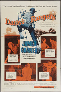 """Darby's Rangers and Other Lot (Warner Brothers, 1958). One Sheets (2) (27"""" X 41""""). War. ... (Total: 2 Items)"""