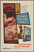 """Movie Posters:Film Noir, I Died a Thousand Times and Other Lot (Warner Brothers, 1955). OneSheets (2) (27"""" X 41""""). Film Noir.. ... (Total: 2 Items)"""