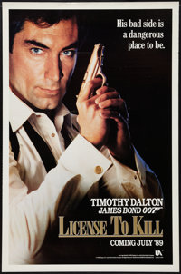 "Licence to Kill (United Artists, 1989). One Sheet (27"" X 41"") Advance. James Bond"