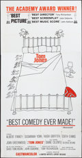 "Movie Posters:Academy Award Winners, Tom Jones (United Artists, 1963). Three Sheet (41"" X 80""). AcademyAward Winners.. ..."