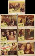 "Movie Posters:Western, The Outlaw (United Artists, 1946). Title Lobby Card and Lobby Cards (6) (11"" X 14""). Western.. ... (Total: 7 Items)"