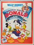 "Movie Posters:Animation, The Fabulous History of Donald Duck (Walt Disney Productions, R-1984). French Grande (47"" X 63""). Animation.. ..."