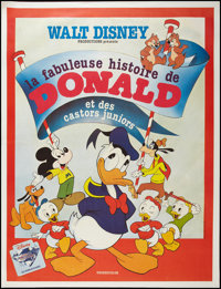 "The Fabulous History of Donald Duck (Walt Disney Productions, R-1984). French Grande (47"" X 63""). Animation..."
