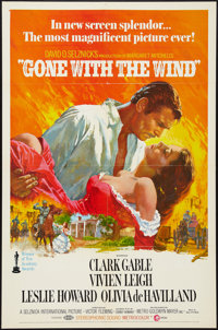 """Gone with the Wind (MGM, R-1968 & R-1974). One Sheet (27"""" X 41""""), Lobby Card (11"""" X 14""""), Un..."""