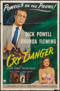 "Movie Posters:Film Noir, Cry Danger (RKO, 1951). One Sheet (27"" X 41""). Film Noir.. ..."