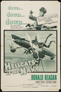 """Hellcats of the Navy (Columbia, 1957). One Sheet (27"""" X 41""""). War"""
